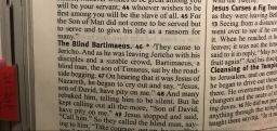 The Blind Bartimaeus